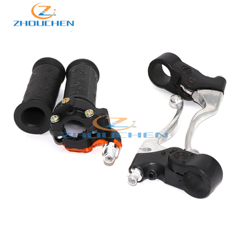 22mm giro acelerador puños juego de palancas de freno para 2 tiempos 47cc 49cc Mini Moto de tierra Cruz bicicleta de bolsillo Mini moto ATV Moto Cruz