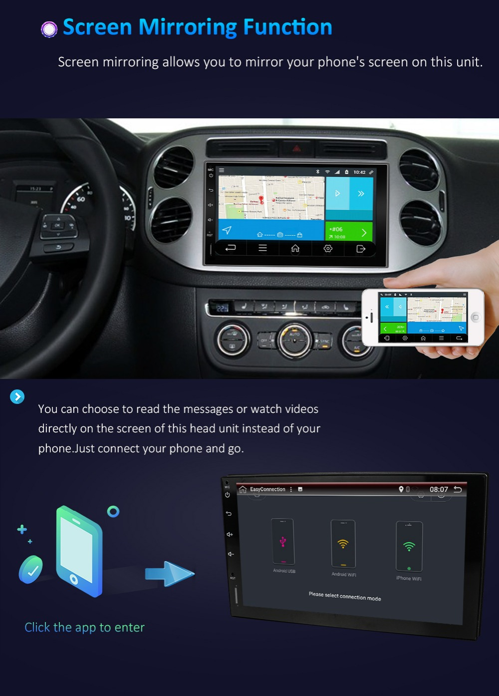 16GB รถวิทยุเครื่องเล่น GPS Bosion 9
