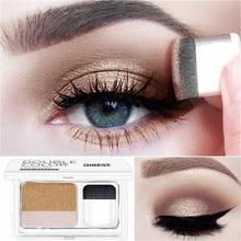 Lazy Double Color Eye Shadow Diamond Shimmer Eyeshadow Makeup