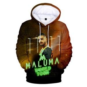 Maluma sweat à capuche pour homme/femmes Sweatshirts à capuche hommes 3D casquette à capuche Maluma garçon/filles Hip Hop hiver marque de mode manteaux de conception(China)