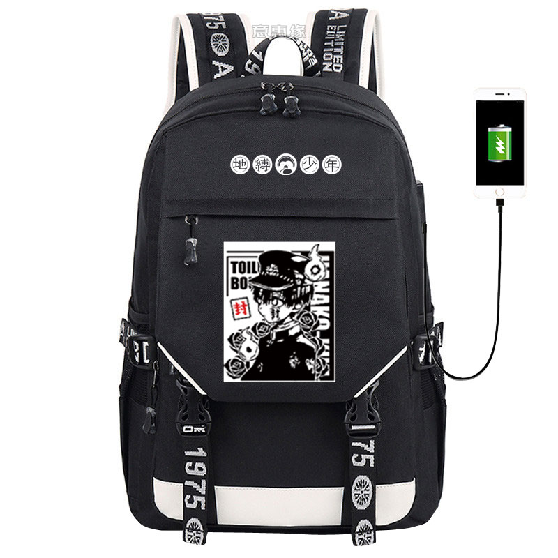 2020 New Toilet-bound Jibaku Shounen Hanako-kun Backpack Fashion Schoolbag  Anime Student Oxford High-capacity Bag Unisex