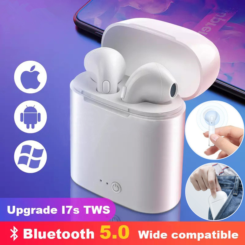 I7s TWS Bluetooth earphone Wireless headphones Sports headphones With microphone Bluetooth headset for iPhone Samsung Huawei Htc