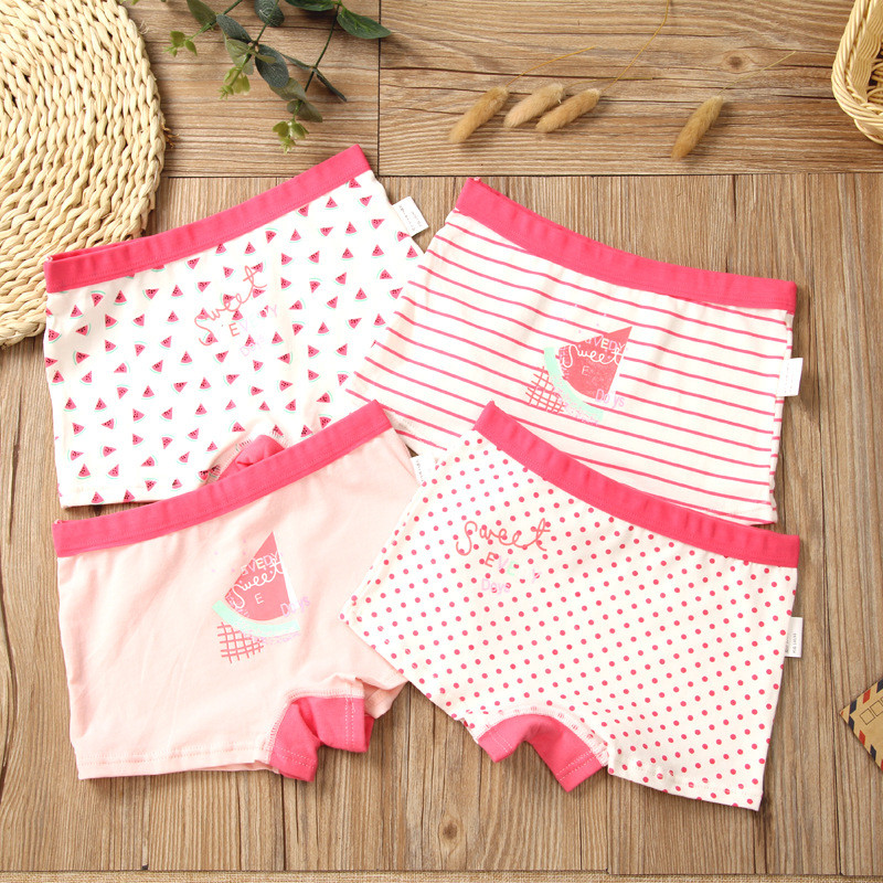 Kids Cotton Panties Cute Girls Boxer Shorts Teenage Soft Breathable Underwear Children Cartoon Underwear For 2-14 Years