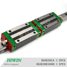 HIWIN HGH20CA 1000mm Linear Guideways Blocks Carriage HGR20 Linear Guide Rail CNC Machine Parts High Precision Accessorie Premie