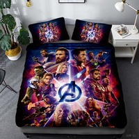 New Iron Man The Avengers Character Duvet Cover Set Au Us Eu Twin Full Queen King Size Bedclothes Kids Cartoon Bed Linen Bed Set