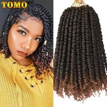 TOMO Bomb Twist Crochet Hair 12 Inch 24s Spring Twist trecce all'uncinetto preposte estensione dei capelli sintetici passione Twist per le donne