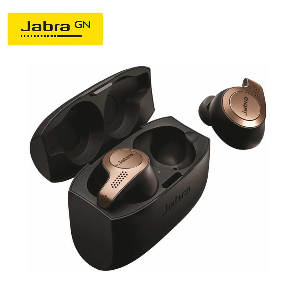 Jabra Elite 65 T Alexa Diaktifkan Benar Nirkabel Earbud dengan Pengisian Case Titanium Hitam & Emas Beige Tembaga Hitam
