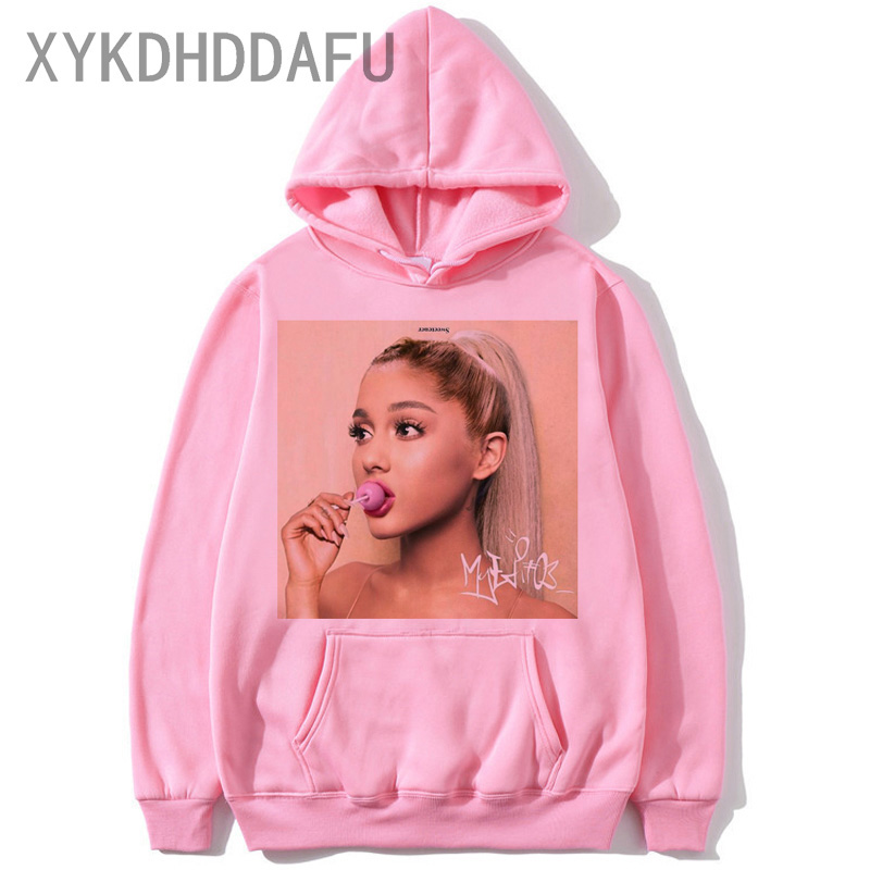 Ariana Grande Hoodie Harajuku Funny Women/men 90s Sweatshirt Clothes Female/male Graphic Pullovers Hood Oversized Ulzzang
