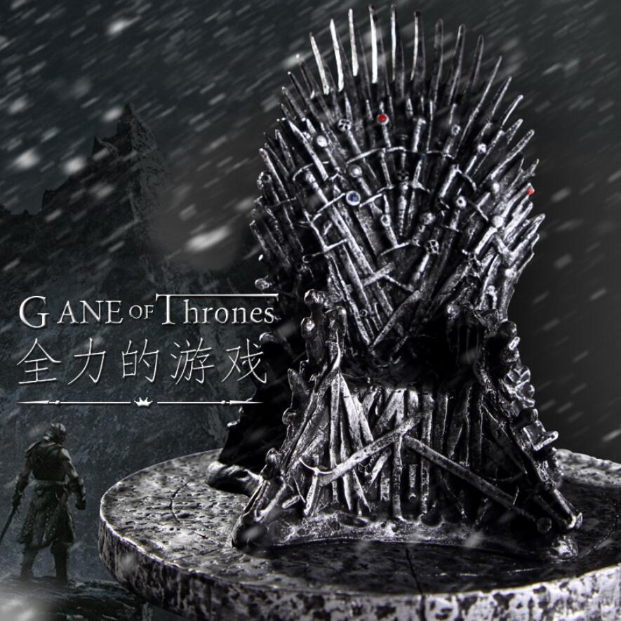 GAME OF THRONES The Iron Throne Model Figure Song Of Ice And Fire Sword Chair Iron Throne Desk Resin Process Gift