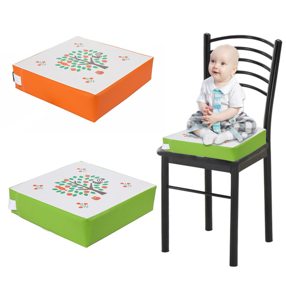 Kids Heightening Chair Cushion Leather Wisdom Tree Pattern Raised Seat Cushion Square Increase Seat Cushion In Stock