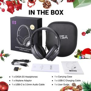 Image 5 - EKSA E5 Bluetooth 5.0 Headphones 920mAh Active Noise Cancelling headphone Wireless Headset With Mic For Phones Foldable Over Ear