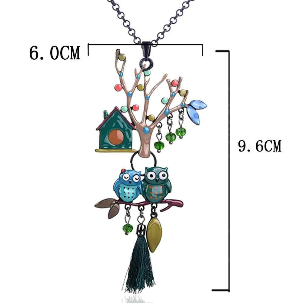 D & Rui takı çift kuşlar ağaç bildirimi kolyeler ve kolye moda yaka kadın kolye 2019 toptan doğum günü hediyeleri sıcak