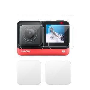Image 5 - Temperli cam koruyucu kapak kılıf için GoPro git pro Hero5 Hero6 Hero7 Hero 5/6/7 siyah kamera lens LCD ekran koruyucu Film