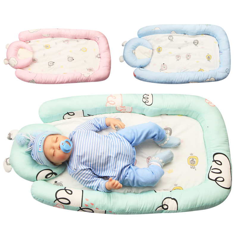 New cartoon portable anti-pressure crib bed, baby go out to sleep, foldable crib, toddler bed frame baby nursery furniture