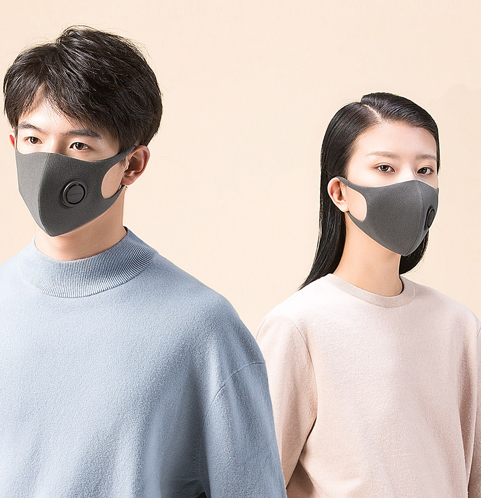 3 Pcs Xiaomi SmartMi PM2.5 Haze Mask Purely Anti-haze Face Mask Ear Hanging  3D Design Light Breathing Fashion Mask