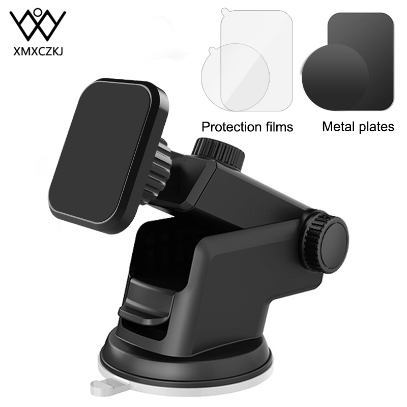 XMXCZKJ Universal Magnetic Phone Holder For IPhone Xr X 8 7 6 Samsung Suction Cup Car Phone Holder For Car Windshield Dashboard