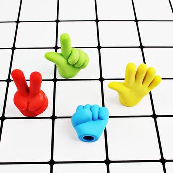 4 sztuk zestaw Cartoon nożyczki kamień tkaniny gumka Mini Finger gest DIY ołówek Top gumki materiały dla studentów dziecko gumowe prezenty tanie i dobre opinie devoservice CN (pochodzenie) B13776 RUBBER 3 lat GUMKA DO OŁÓWKA Gumka biurowa FANTASTIC
