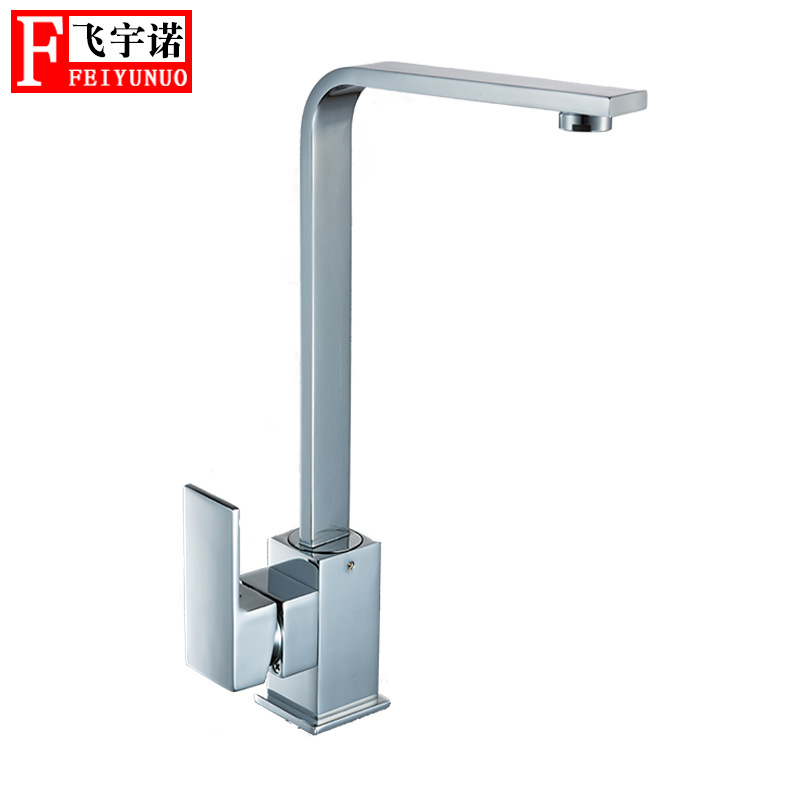 Kitchen Rotatable Faucet Copper European Style Tap Wholesale Hot And Cold Mixing Faucet Square Kitchen Faucet