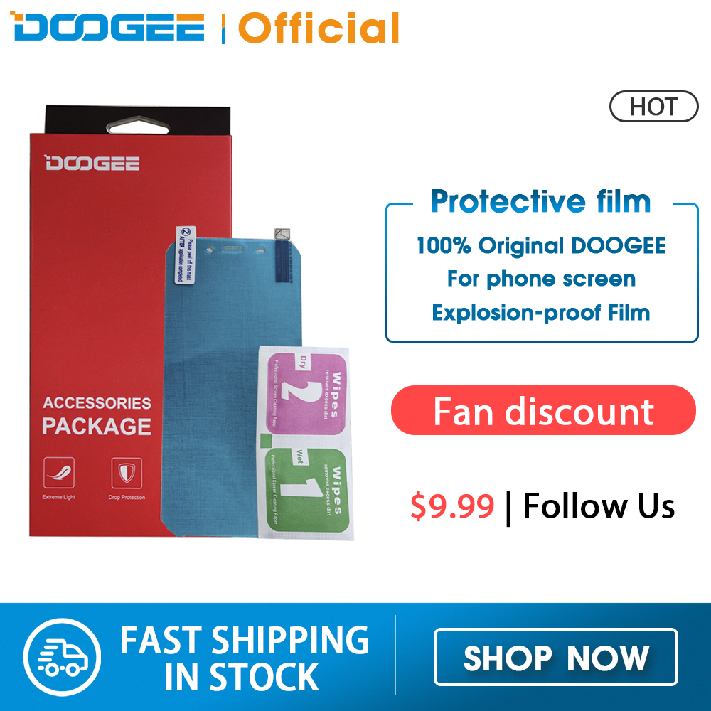 Doogee N20 S40 S68 pro S95 Pro Accessories Case Film Bag Explosion-proof Original Protective film(China)