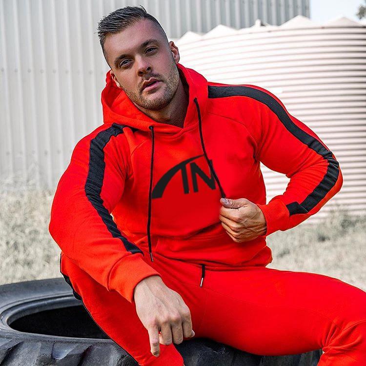 Men's Tracksuit Gym Fitness Sports Suit Clothes Running Jogging Sport Wear Exercise Workout Tracksuit Warm Tracksuit Men Set