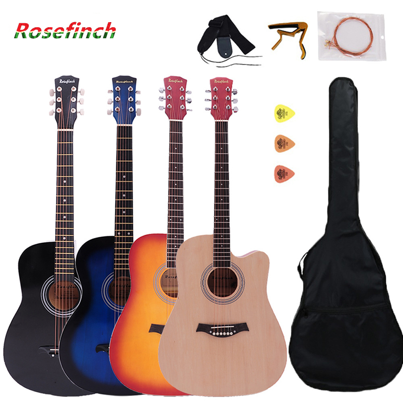 Wood Guitar Ukulele 41inch 6-String Blue/sunset Ballad Beginner with AGT123 Entry title=