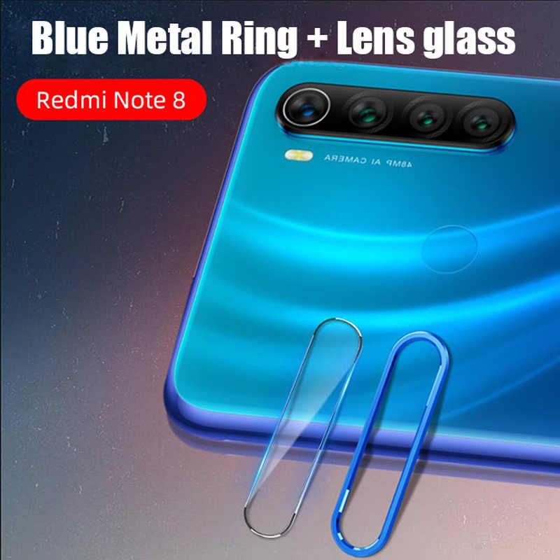 عودة الزجاج المقسى كاميرا عدسة ل شاومي Redmi نوت 8 برو كاميرا المعادن حلقة واقية عدسة ل Redmi نوت 8 الزجاج الخلفي