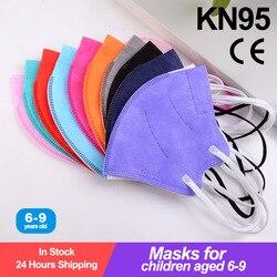 10-100 pces kn95 crianças mascarillas infantil ffp2reutilizável crianças máscara protetora máscara facial enfant fpp2ce mascarillas niños