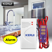 Kerui sensor de vazamento de água sem fio, de alta qualidade, para segurança residencial, sistema de alarme 433mhz, detector de alerta sistema com sistema