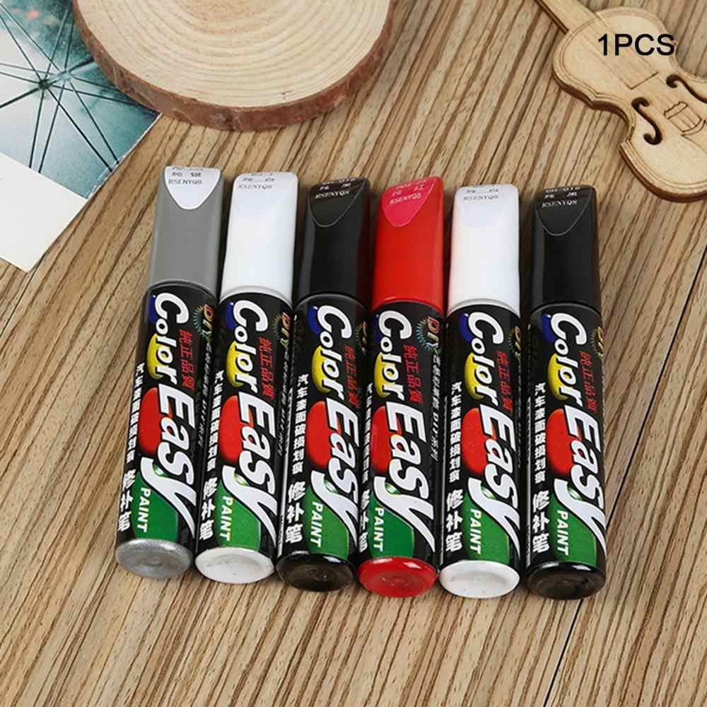 Juego de bolígrafos para coche, juego de pintura de superficie para reparación de arañazos, pintura blanca, gris, Negro, Rojo, pintura de colores mezclados