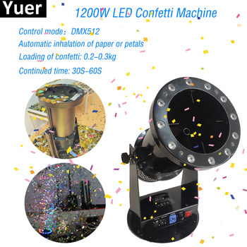 Professional Disco dj Party Rejoice 1200W DMX Controller LED Confetti Machine Stage Special Effects DJ Equipment Free Shipping 1200w dmx confetti blower stage effect cannon led 12x3w rgb confetti machine for disco party wedding show christmas decorations