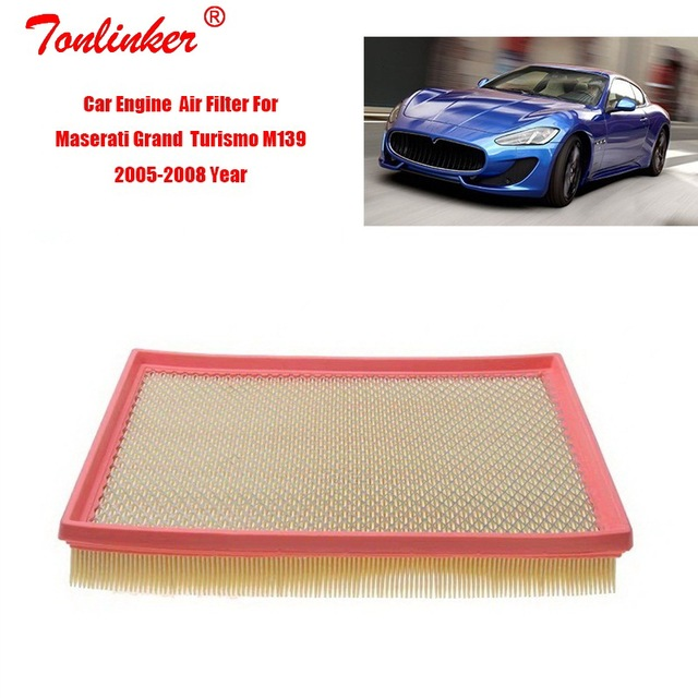 เครื่องยนต์กรองอากาศ 1Pcs สำหรับ Maserati Grand Turismo M139 4.2L 4.7L รุ่น 2005 2006 2007 2008 ปี Oem197784 กรองรถอุปกรณ์เสริม