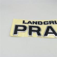 For Toyota Land Cruiser Prado Tail Emblem Car 3D Badge Sticker Rear Trunk Letter Logo Decal 3d car styling chrome metal sticker awd tail emblem badge rear decal logo for toyota impreza subaru honda 4x4 off road suv 4wd