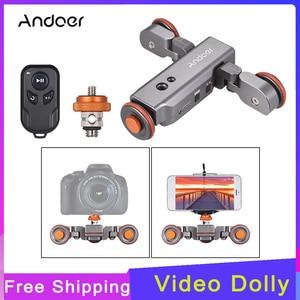 Image 1 - Andoer L4 PRO التحكم عن بعد متزلج صغيرة بمحركات كاميرا فيديو دوللي المسار Sliderfor كانون نيكون سوني DSLR كاميرا