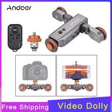 Andoer L4 פרו שלט רחוק מיני סקטים ממונע מצלמה וידאו דולי מסלול Sliderfor Canon Nikon Sony DSLR מצלמה