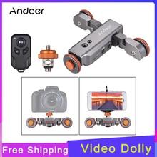 Andoer minicámara motorizada con Control remoto L4 PRO, cámara motorizada de vídeo, pista deslizante para cámara DSLR Canon, Nikon, Sony
