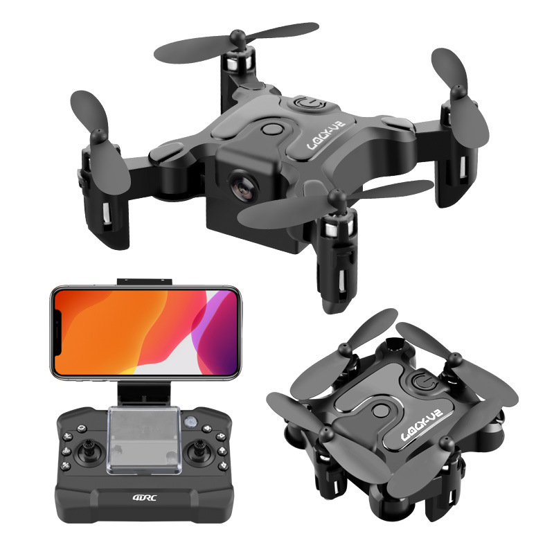 Mini Folding Drone 4K HD Camera Aerial Photography Four-Axis Drone Foldable Helicopter Kid s Toys