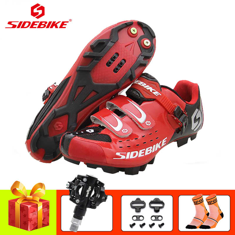 SIDEBIKE cycling shoes sapatilha ciclismo mtb men women mountain bike shoes SPD pedals self-locking breathable riding sneakers