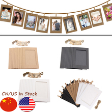 10PCS DIY Photo Frame Wooden Clip Paper Picture Holder Wall Decoration For Wedding 2019 Graduation Party Photo Booth Props