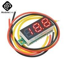Voltmètre à panneau numérique cc, 0.28 pouces, 3 Bits, fil à 3 chiffres, montage sur panneau, testeur de tension, couleur rouge, 0.28 pouces