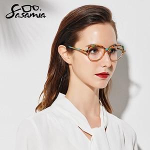 Image 2 - Sasamia Brillen Frame Vrouwen Vintage Kat Bril Recept Bril Frames Bijziendheid Lenzenvloeistof Frame Voor Vrouwen Trends