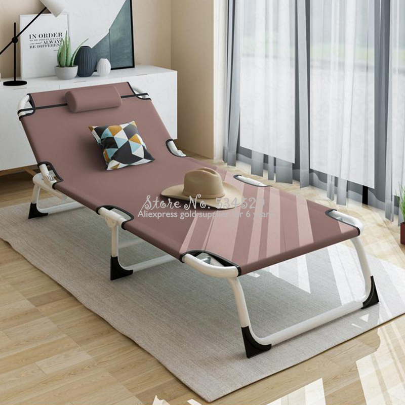 21%Multifunctional Folding Bed Single Bed Home Adult Lunch Bed Siesta Lounge Office Simple Bed Marching Care