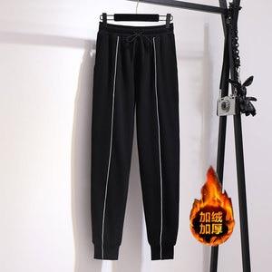 Image 3 - 2019 jesień zima plus rozmiar spodnie sportowe dla kobiet duże grube aksamitne wełny dorywczo luźne ciepłe długie 3XL 4XL 5XL 6XL 7XL