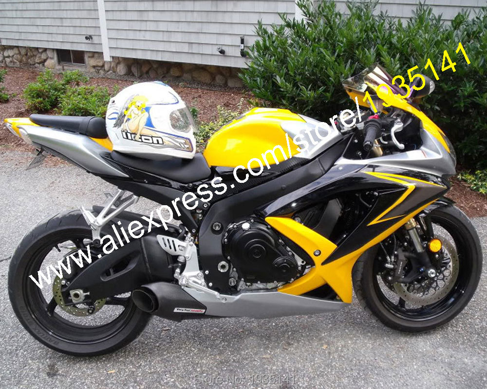 For <font><b>Suzuki</b></font> Parts <font><b>GSXR</b></font> <font><b>600</b></font> 750 08 09 10 GSX-R600/750 2008-2010 Yellow Motorcycle ABS K8 <font><b>Fairing</b></font> <font><b>Kit</b></font> (Injection molding) image