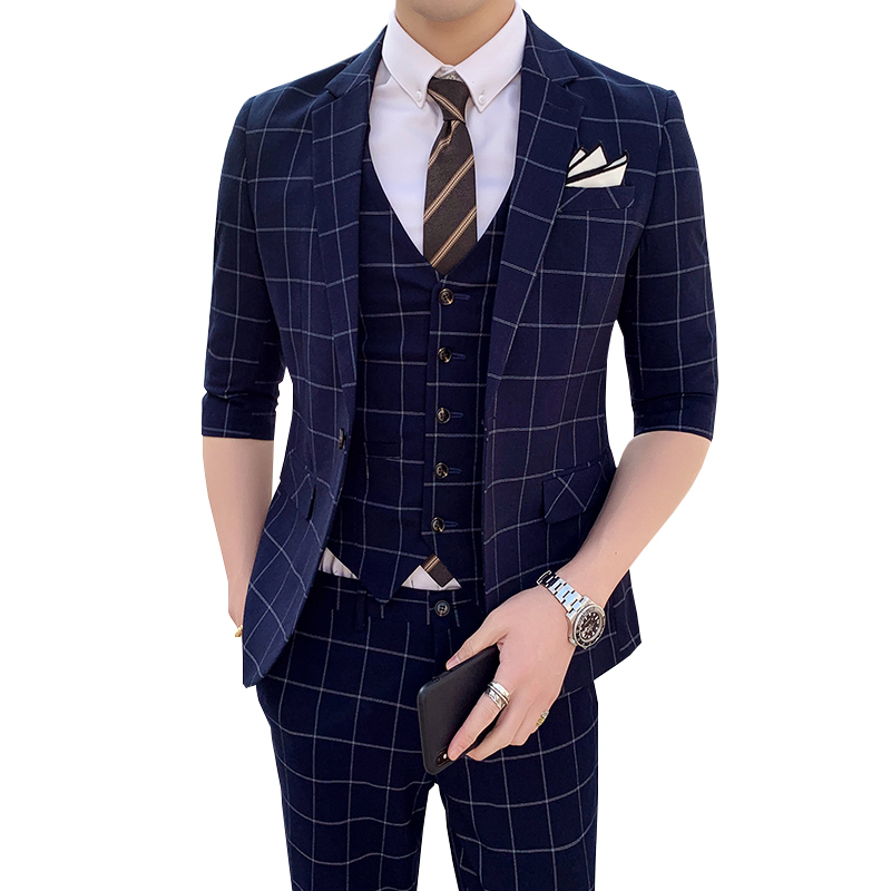 Костюм homme, деловой костюм, комплект из двух предметов в джентльменском стиле, с угловыми лацканами, однобортный деловой костюм с тремя карм... - 5