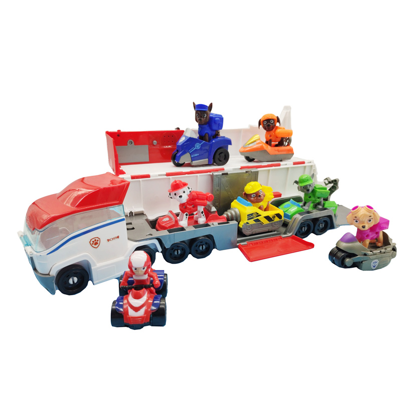 Paw Patrol New Small-Scale Patroller Bus Music Dog Rescue Base Set Vehicle Toy Anime Action Figure Model Kids Birthday Best Gift