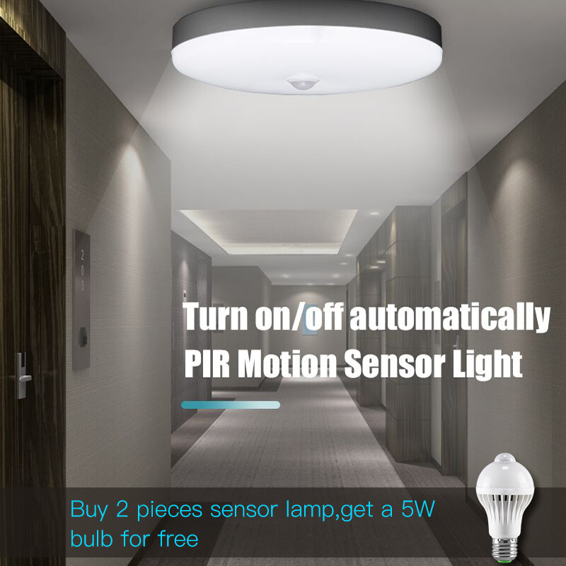 E27 Led Night Lights Lamp 220V Smart Motion Sensor Ceiling Lights Bulb 5W 7W 9W 12W 18W PIR Sensor Lamps For Home Stair Hallways