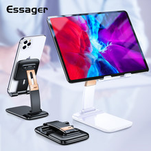 Essager Foldable Desk Mobile Phone Holder Stand For iPhone iPad Pro Tablet Flexible Gravity Table Desktop Cell Smartphone Stand(China)