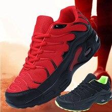 2020 novo tênis de corrida dos homens 47 metros sapatos esportivos preto almofada de ar malha sapatos casuais 46 metros sapatos vermelho moda tendência sapatos