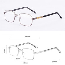 Szklane okulary do czytania mężczyźni kobiety Crystal Lens Anti-fatigue dioptrii Eyewear + 100 do + 400 odporne na zadrapania tanie tanio VazRobe WOMEN Unisex Jasne Gradient glass reading glasses 3 5cm Szkło 5 5cm Stop +100 +150 +200 +250 +300 +350 +400