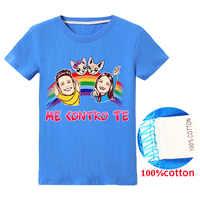 Me Contro Te Manica Corta T-Shirt In Cotone Vestiti dei bambini di Modo Come UN Estate Magliette e camicette per Le Ragazze o Ragazzi Manica corta per bambini